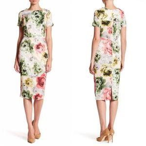 🌸ALEXIA ADMOR Floral Scuba Midi Dress S